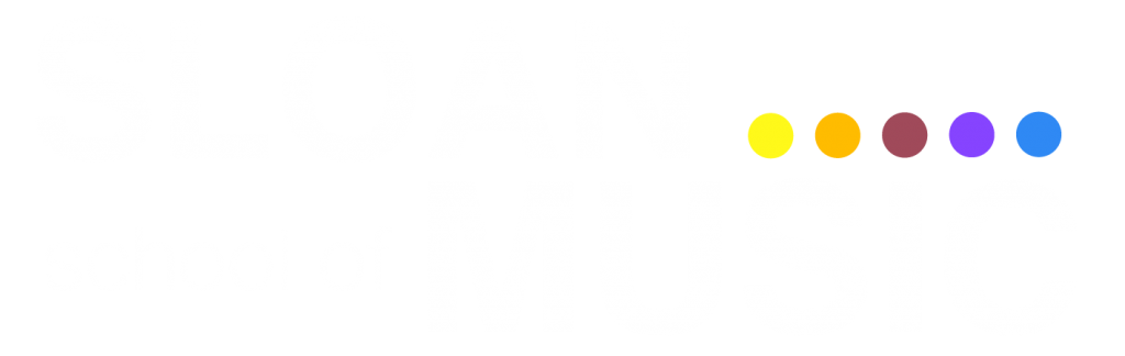 Sloan School of Music White Transparent Logo