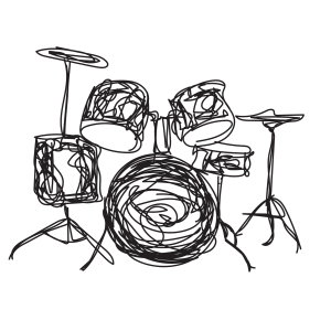 sketch of drums