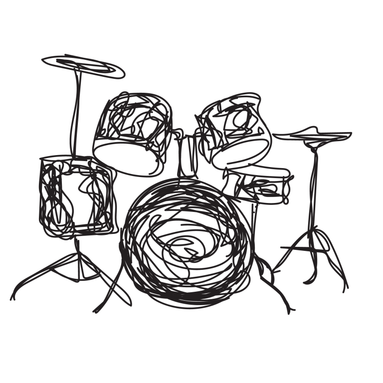 sketch of drums