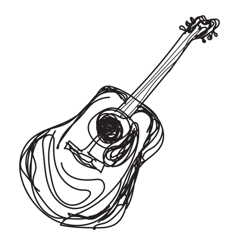 sketch of guitar