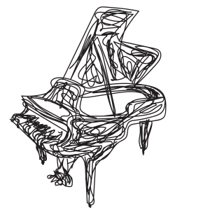 sketch of grand piano