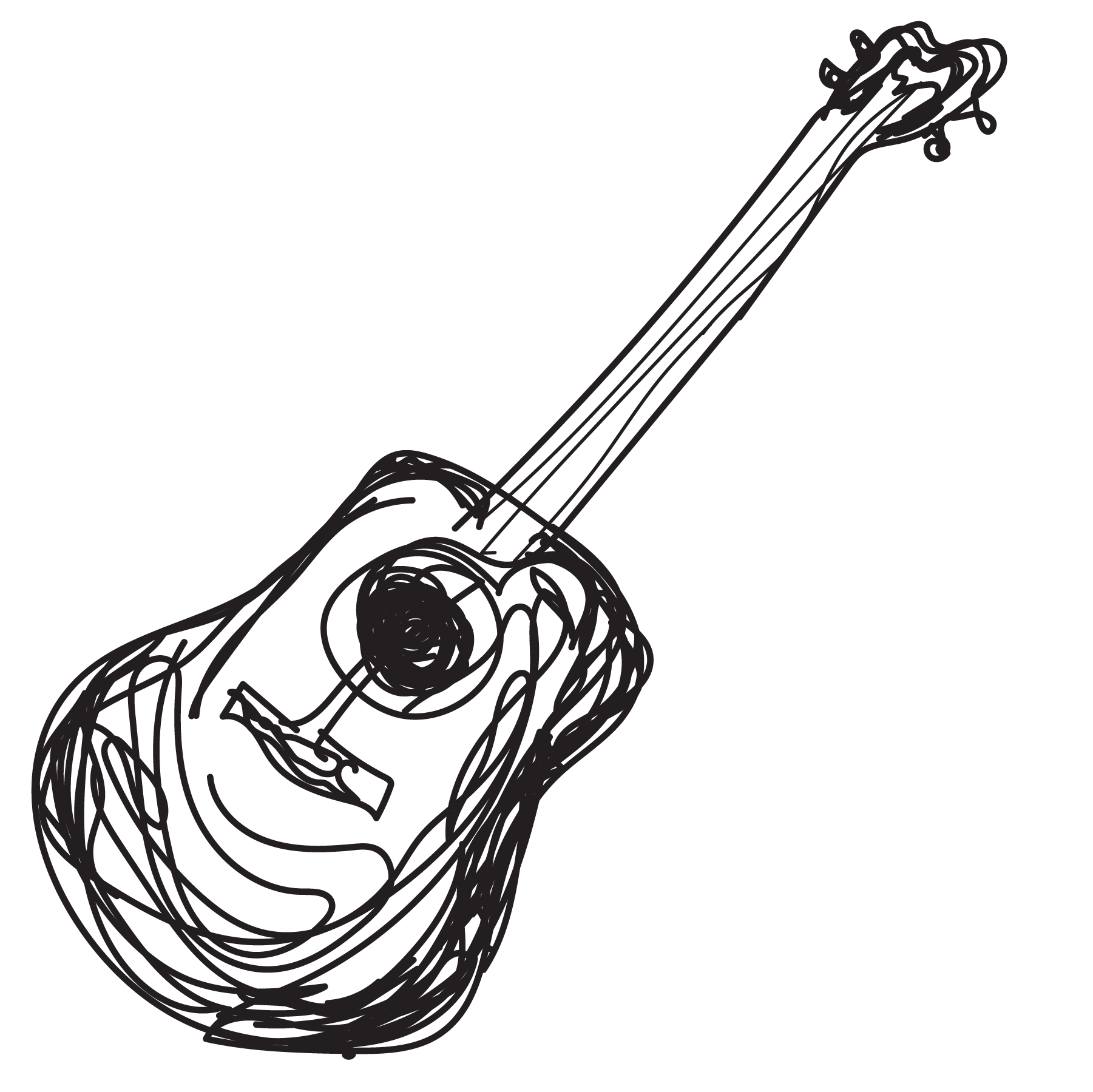 sketch of a ukulele