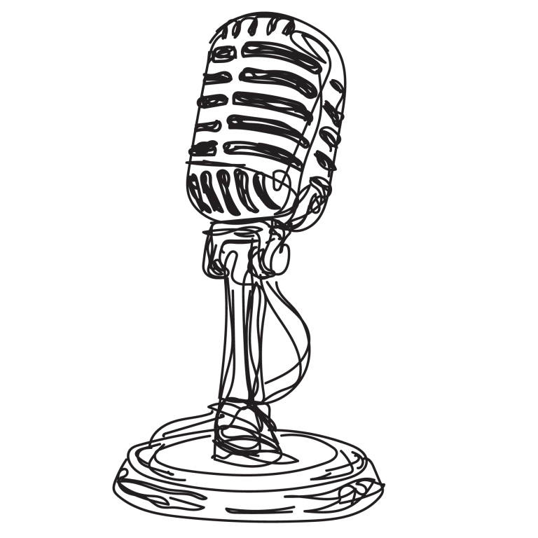 sketch of microphone