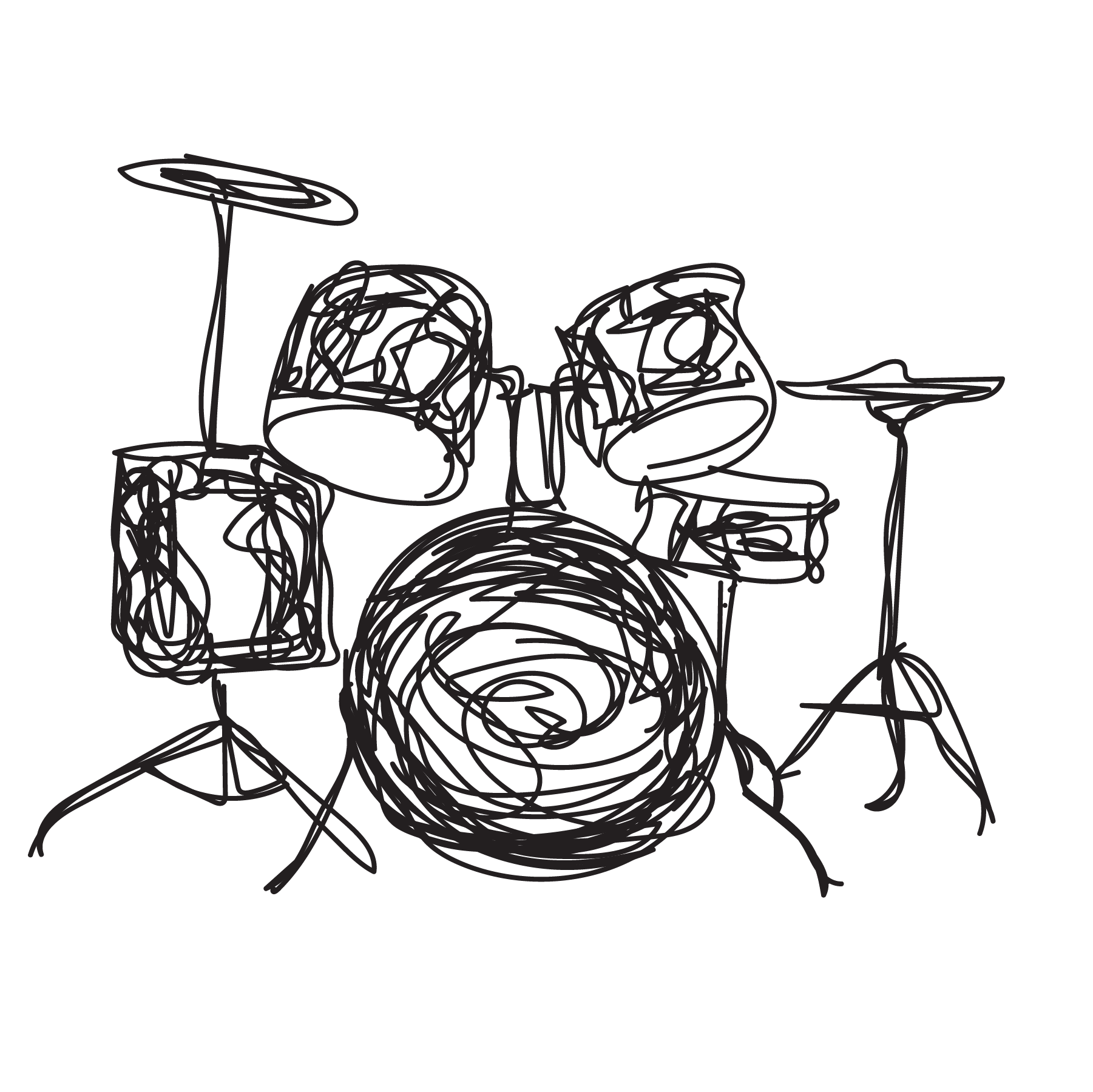 drum set sketch music lessons