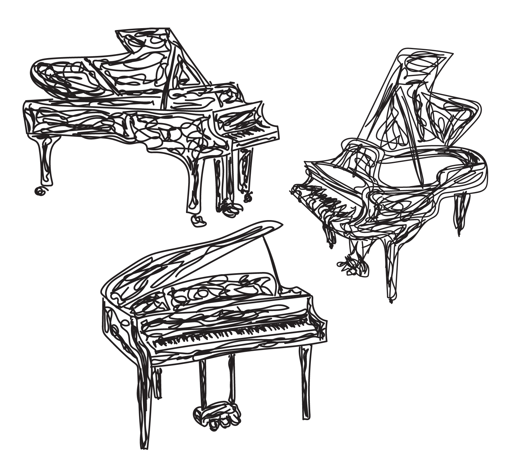 sketch of piano arrangement