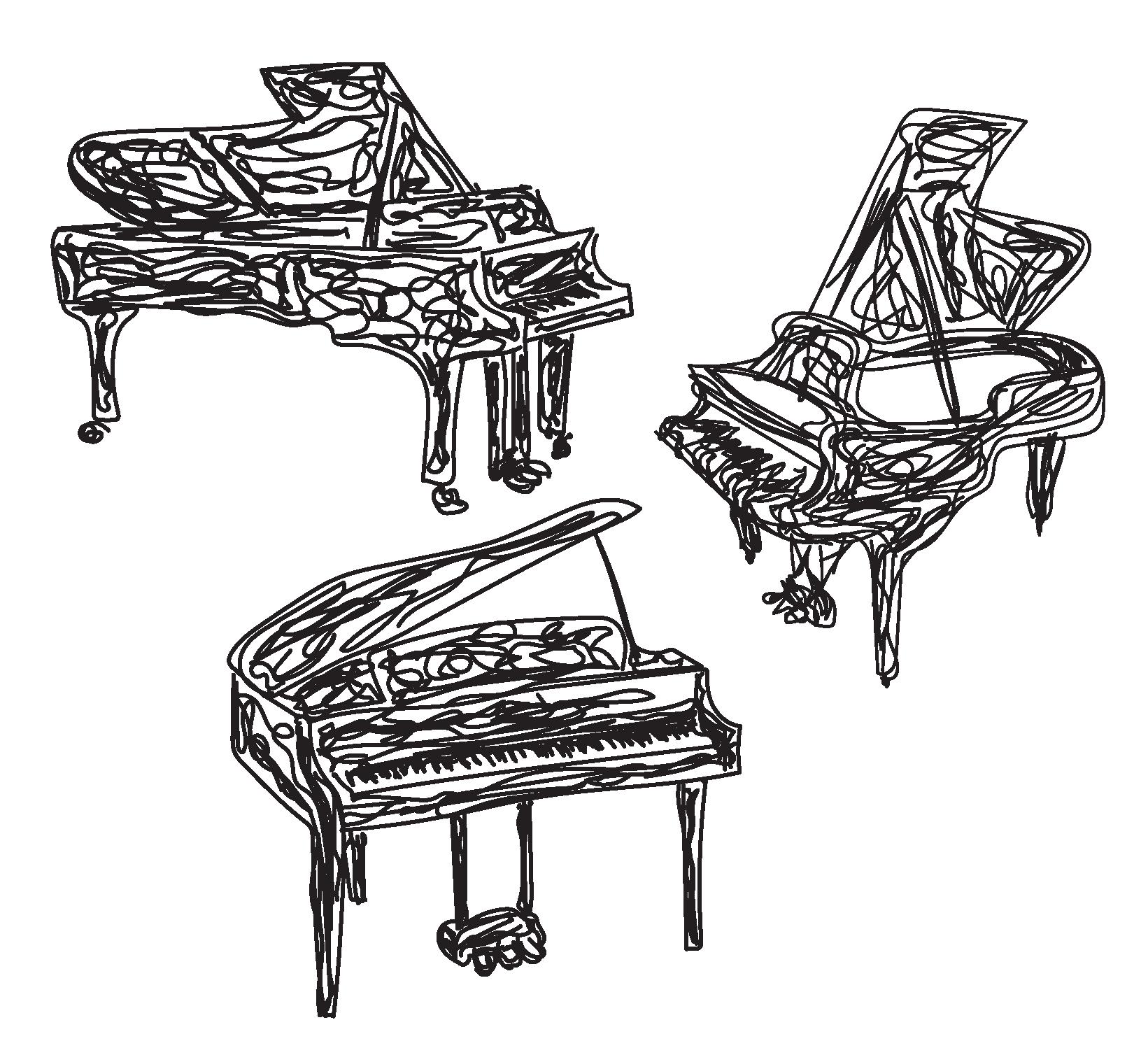 sketch of piano arrangement