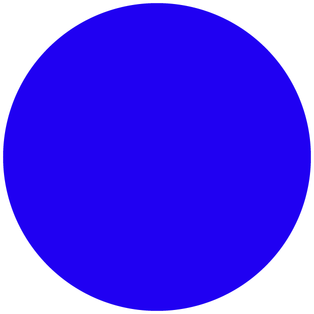 big blue dot