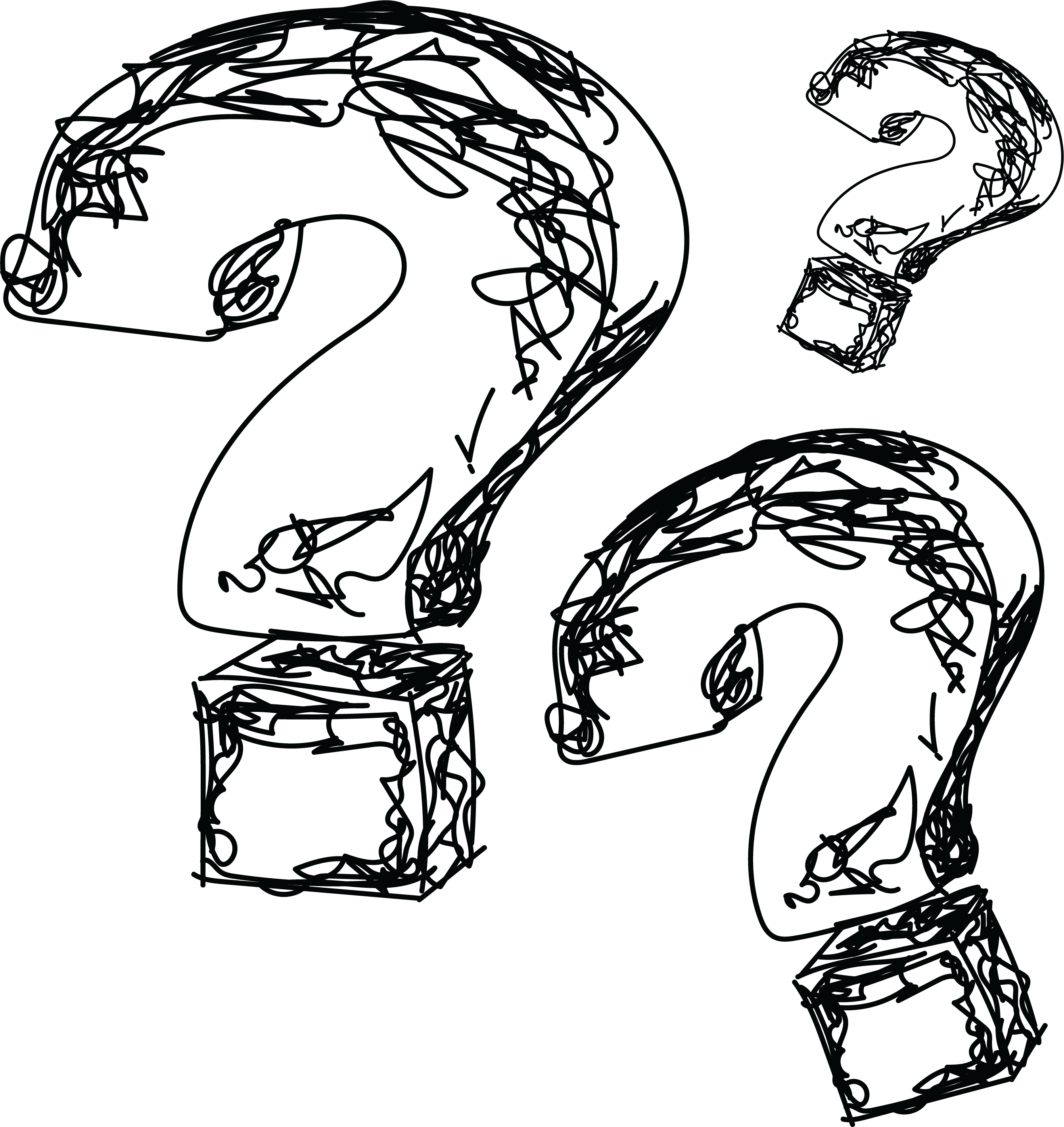 sketches of question marks