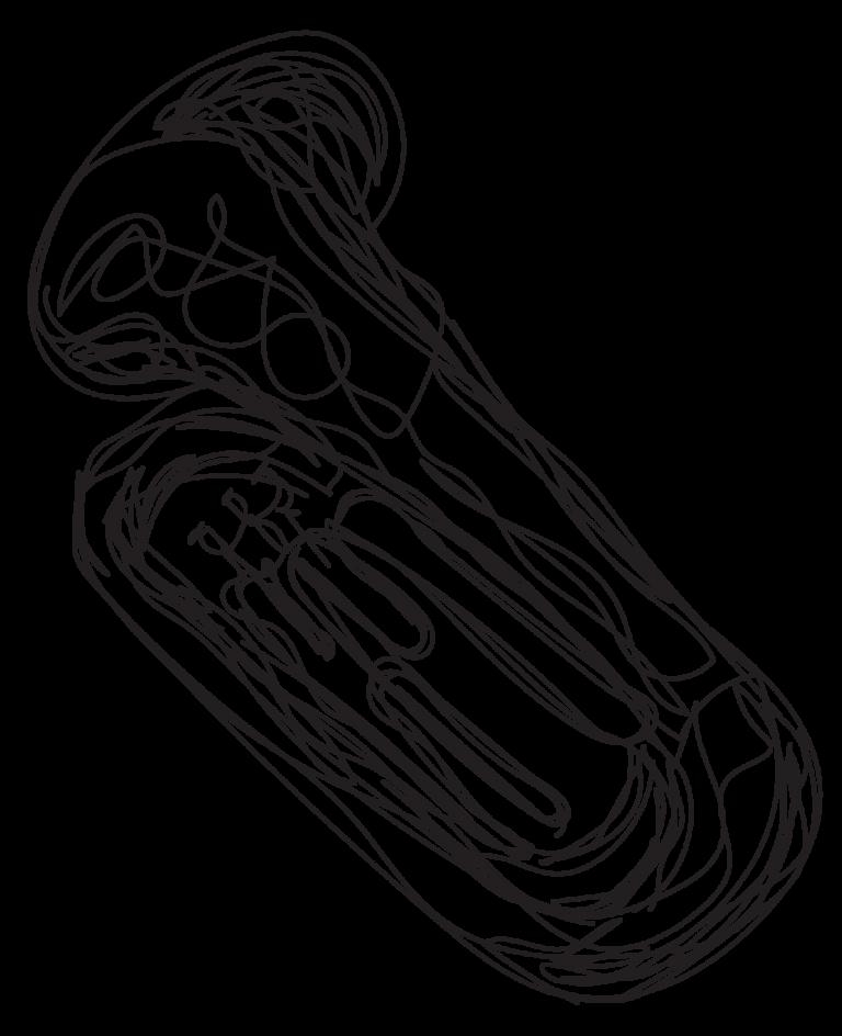 sketch of a tuba