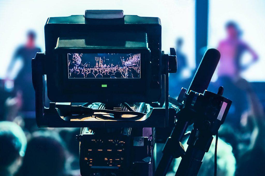 video recording a concert