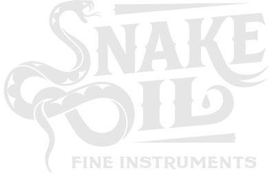 snake oil logo white